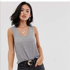 Pam & Gela Gray Tank Top Size Small (P)